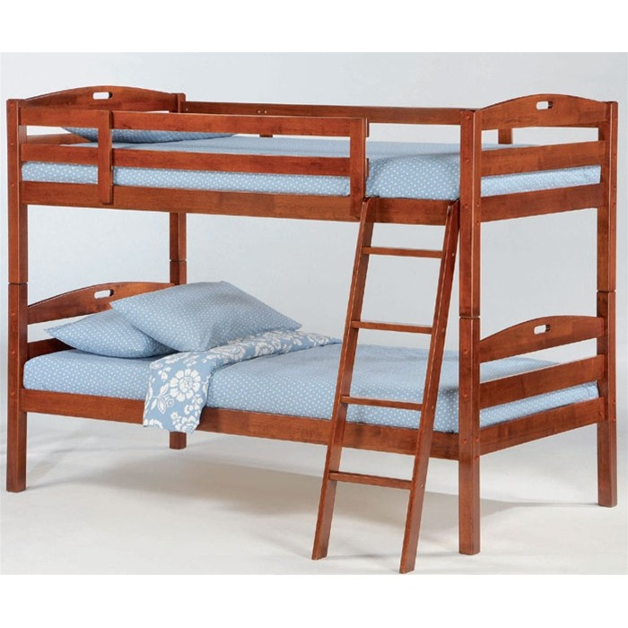 Cherry Twin-Twin Sesame Bunk Bed Save $100
