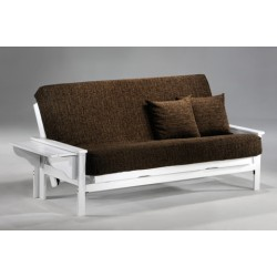 Full Winston Futon Sofa in White